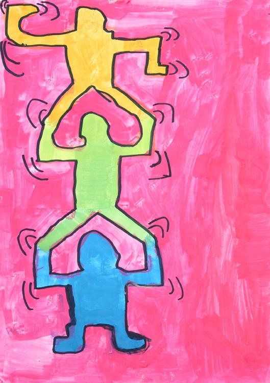 Malen wie Keith Haring von Kevin (9)