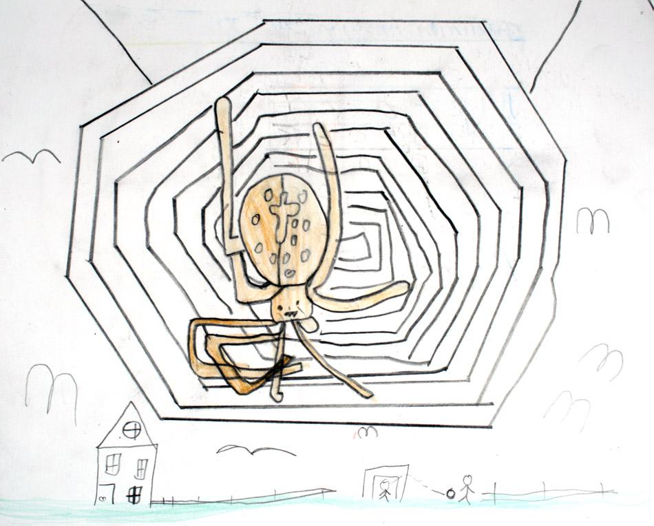 Spinne in ihrem Netz von Keven (8)