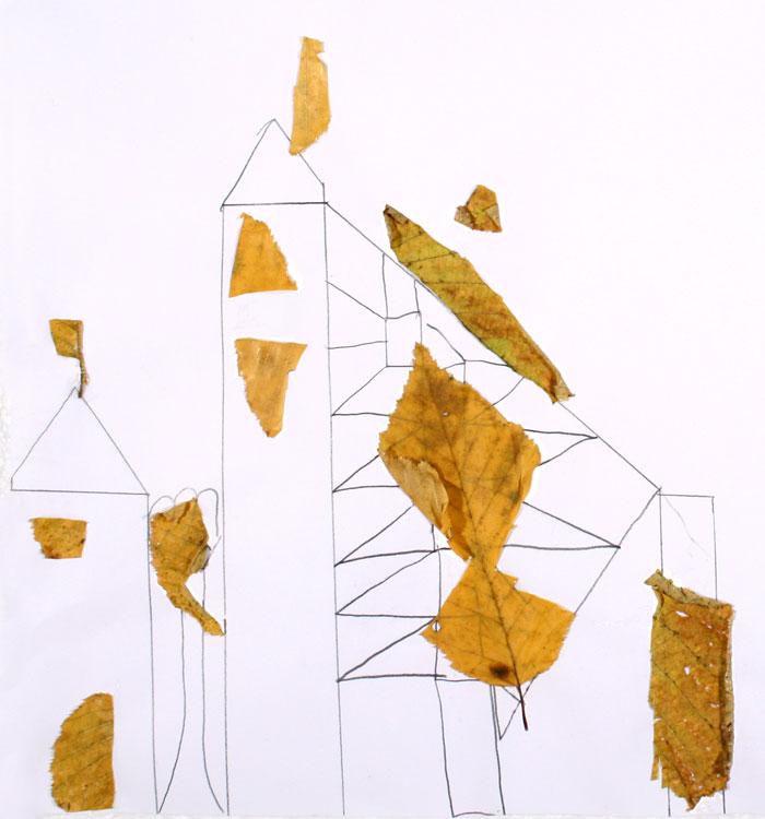 Architektur mit Blättern von Lisa (9)