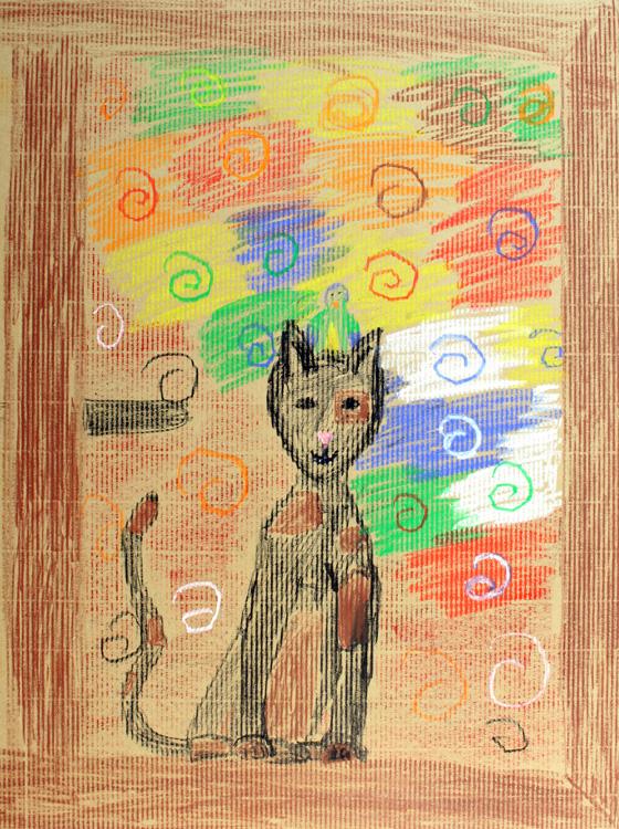 Katze am Fenster von Paula (9)