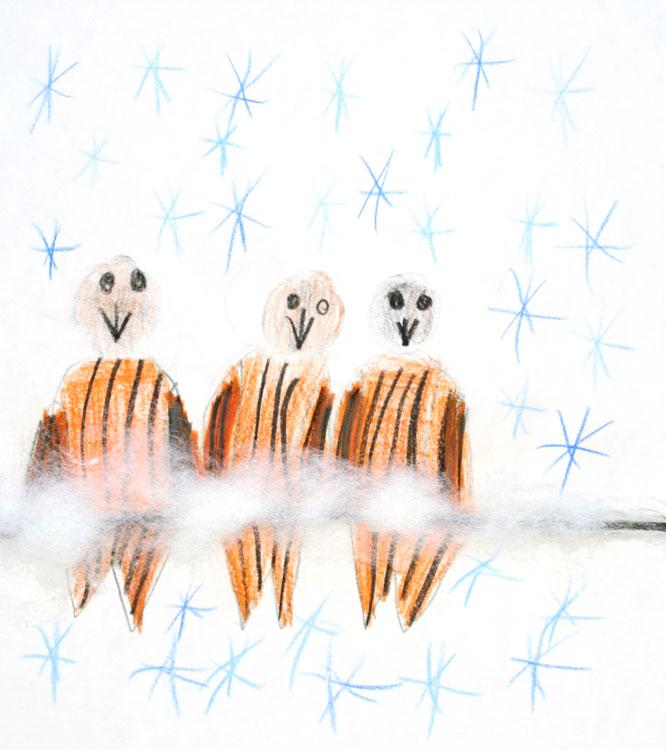 Spatzen im Schnee von Lena (7)