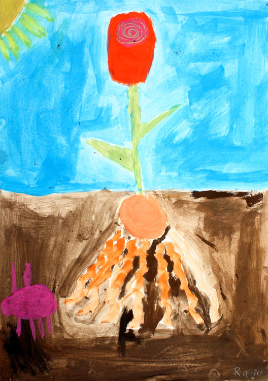 Pflanze über und unter der Erde von Razie (7)
