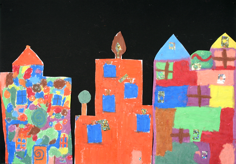 Hundertwasser-Häuser von Oliver, Lara und Max (9)