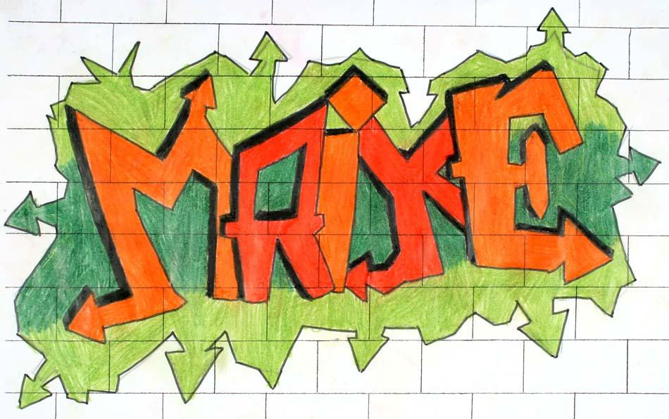 Graffiti mit dem eigenen Namen von Maike (14)
