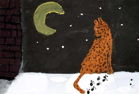 Leopard bei Nacht von Gemeinschafts- arbeit (10)
