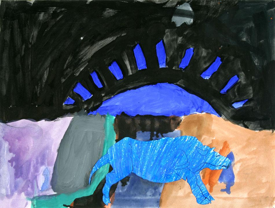 Blaue traurige Kuh  von Lukas (8)