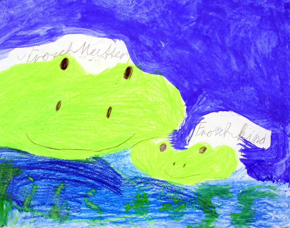 Frosch-Mutter und Frosch-Kind von Aseme (7)