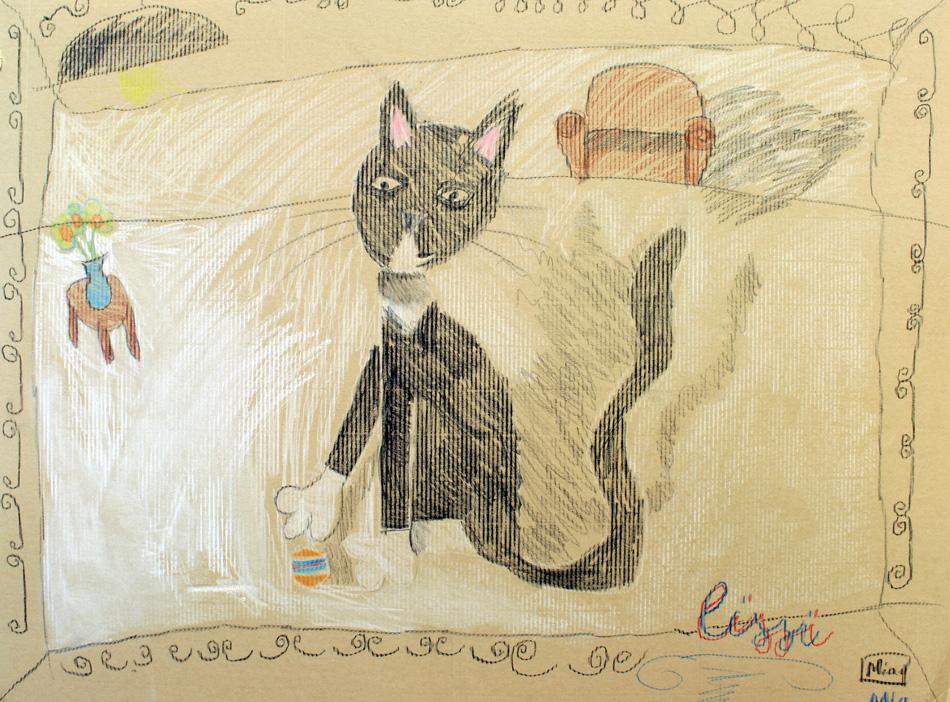 Katze im Zimmer von Mia (9)