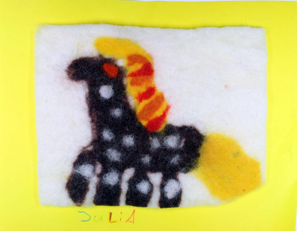 Filzbild mit Ponny von Julia (10)