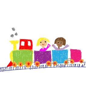 Eisenbahn von nah und fern