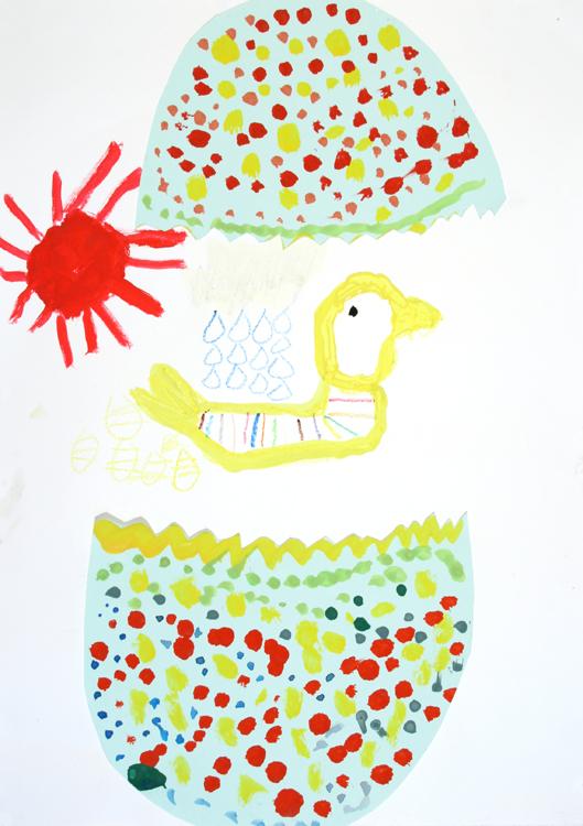 Eine Ente kommt aus dem Ei von Keita (8)