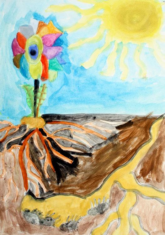 Pflanze über und unter der Erde von Doukan (8)