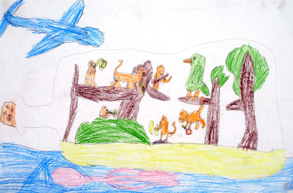 Die Affen leben musikalisch in der Flaschenpost von Julian (6)
