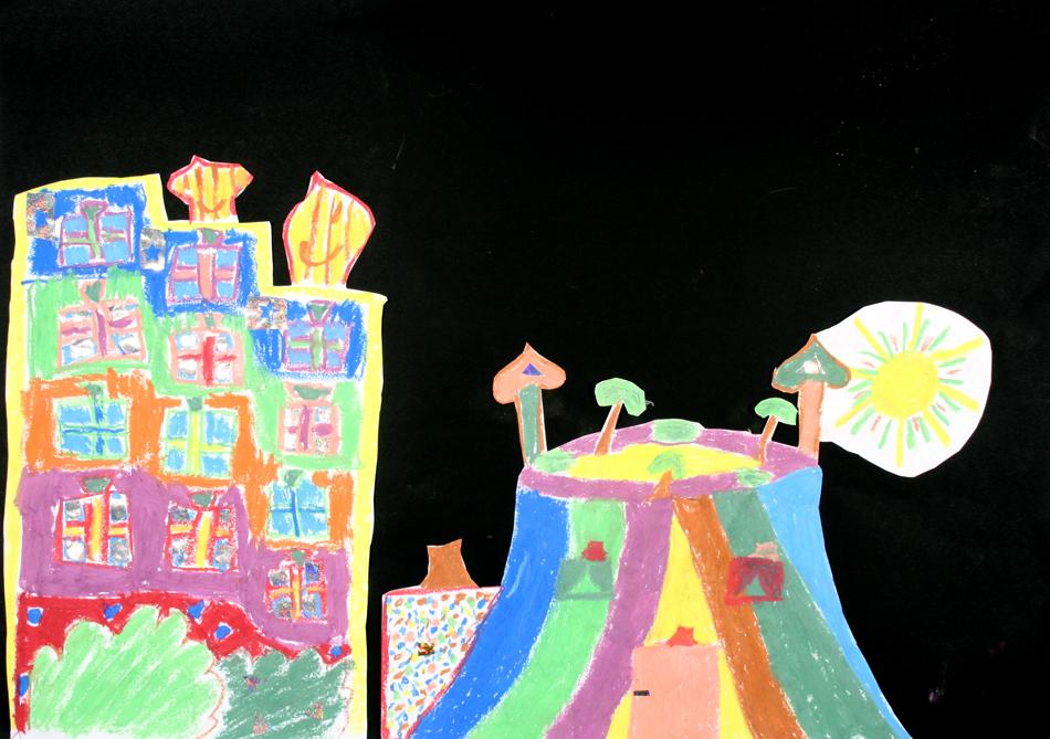 Hundertwasser-Häuser von Josi und Alexina (9)