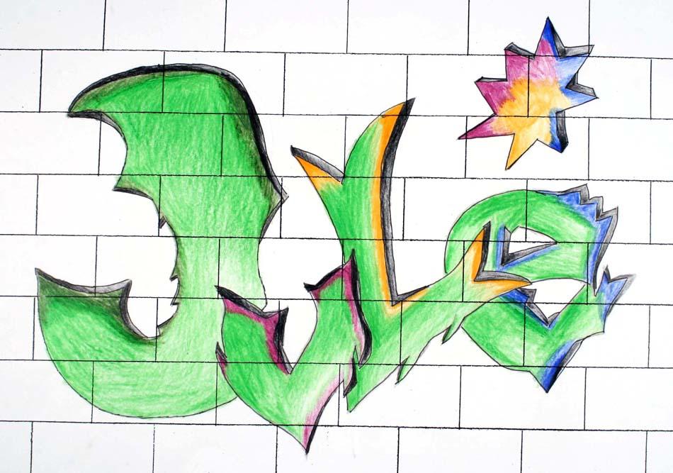 Graffiti mit dem eigenen Namen von Julia (14)
