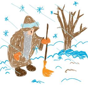 Der Winter ist ein rechter Mann