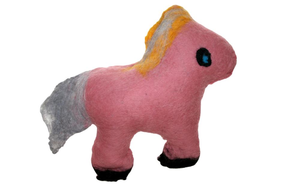 Pferd aus Filz von Yasmina (10)