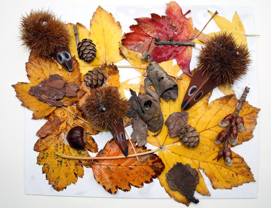 Igel im Herbst von Gemeinschafts- arbeit (6)