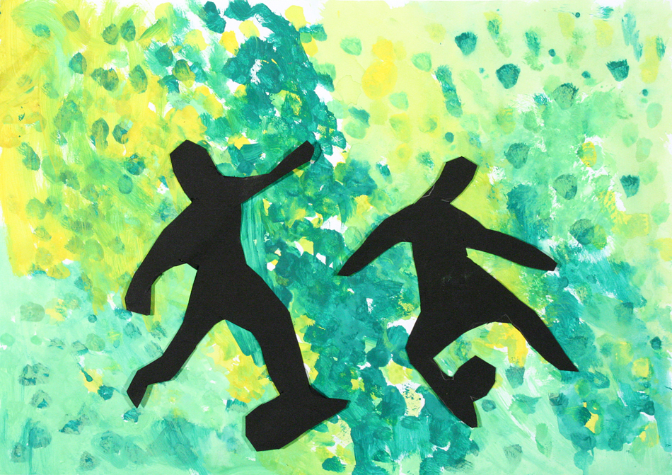 Fußball in Aktion von Iman (8)