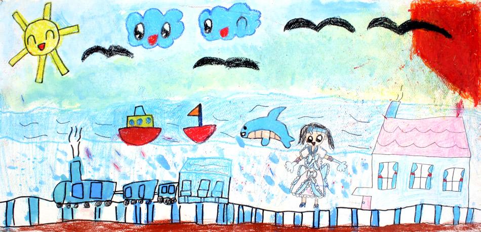 Stadt am Meer  von Mika (7)