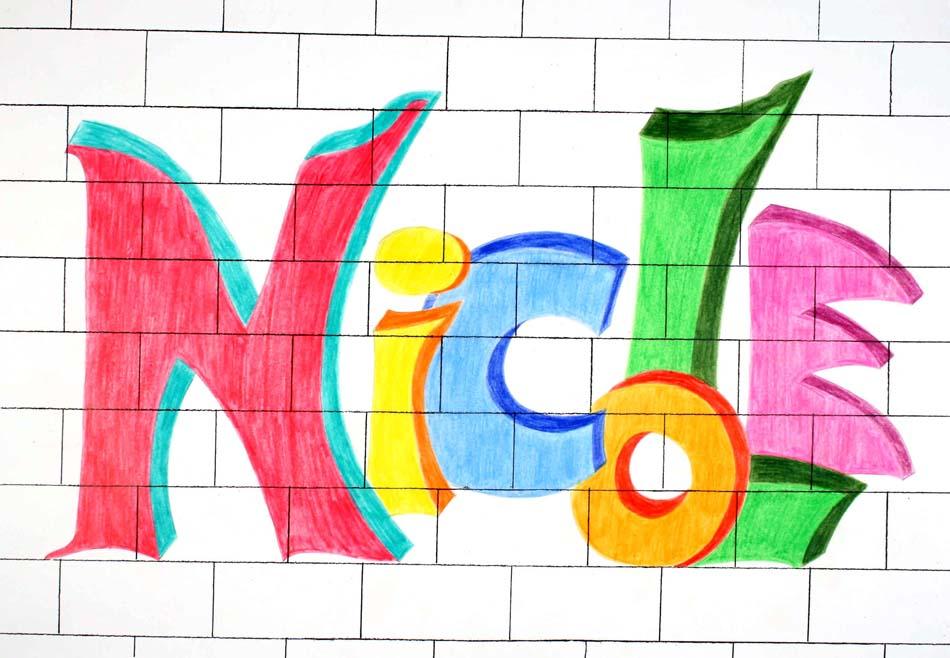 Graffiti mit dem eigenen Namen von Nicole (14)