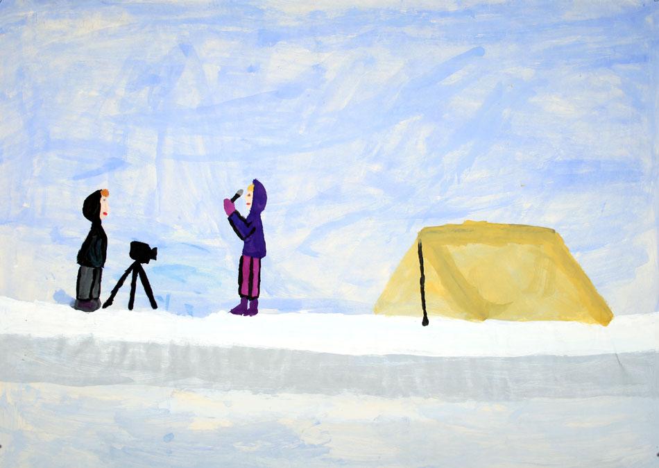 Am Nordpol - über dem Eis von Elisa und Amani (10)