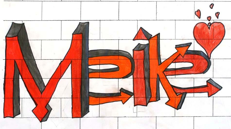Graffiti mit dem eigenen Namen von Meike (14)