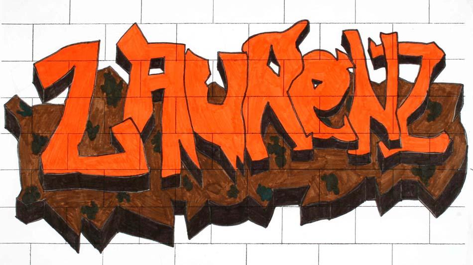 Graffiti mit dem eigenen Namen von Laurenz (14)