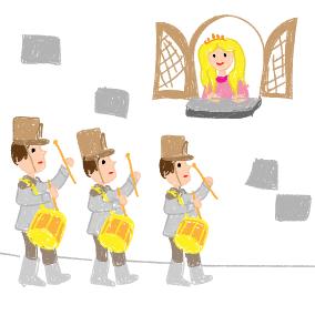 Trois jeun's tambours