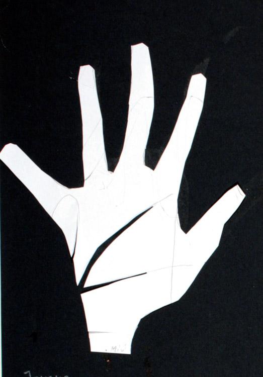 Meine Hand von Gemeinschafts- arbeit 3. Schuljahr (9)