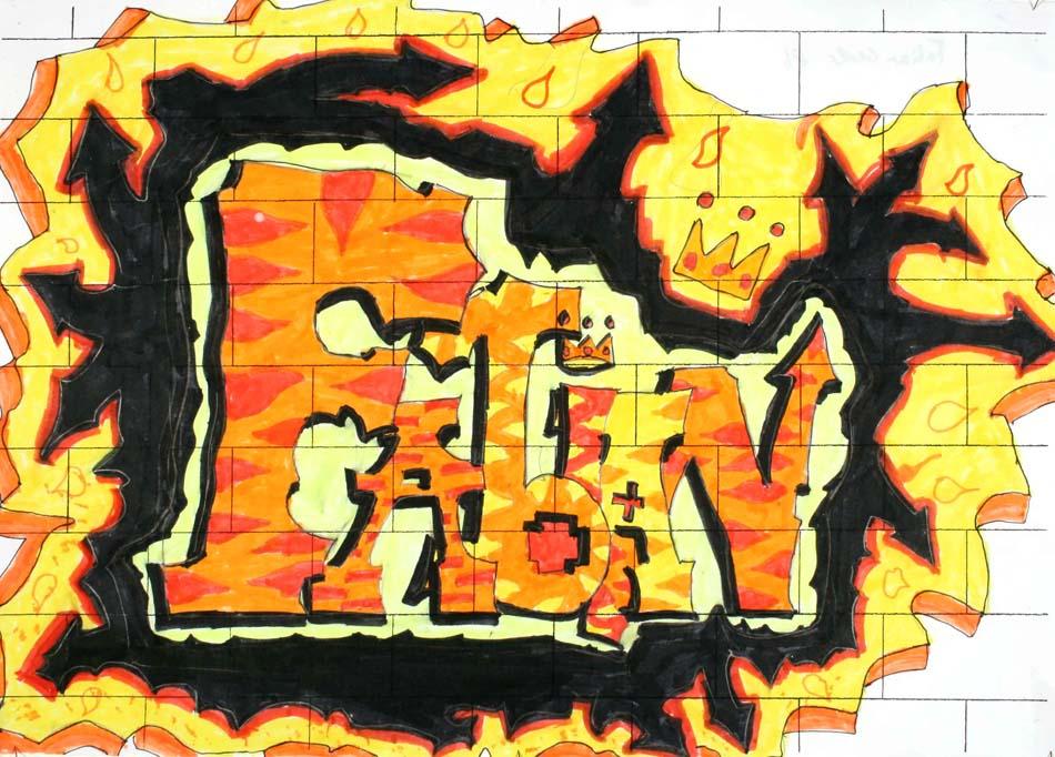 Graffiti mit dem eigenen Namen von Fabian (14)