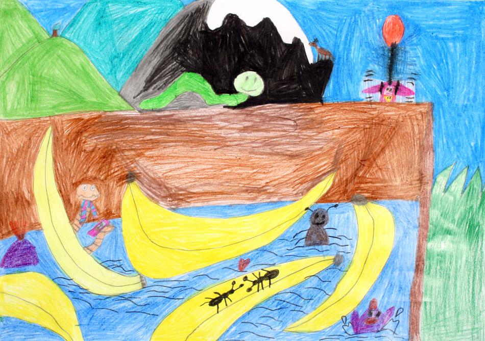 Die Ameisen baden zufrieden in der Bananenkiste von Tim (8)