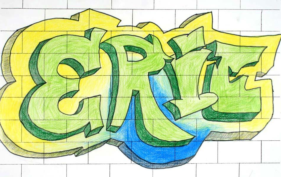 Graffiti mit dem eigenen Namen von Eric (14)