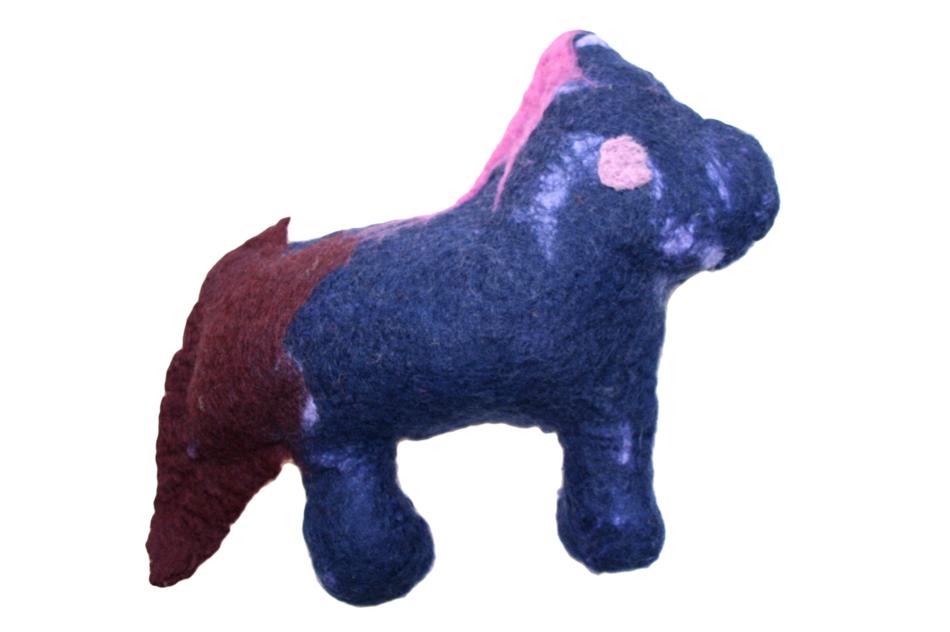 Pferd aus Filz von Elias (10)