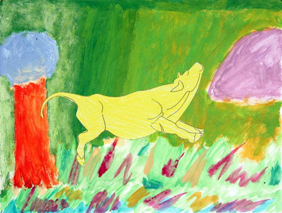 Gelbe fröhliche Kuh von Lena (8)