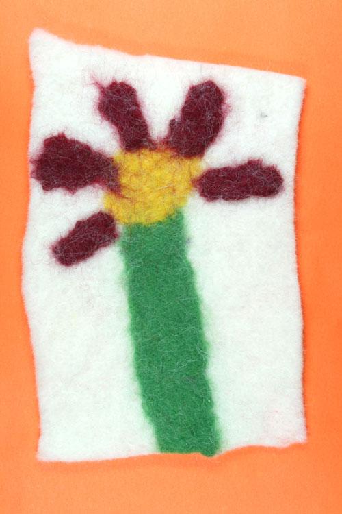 Filzbild mit Blume von Semanur (8)