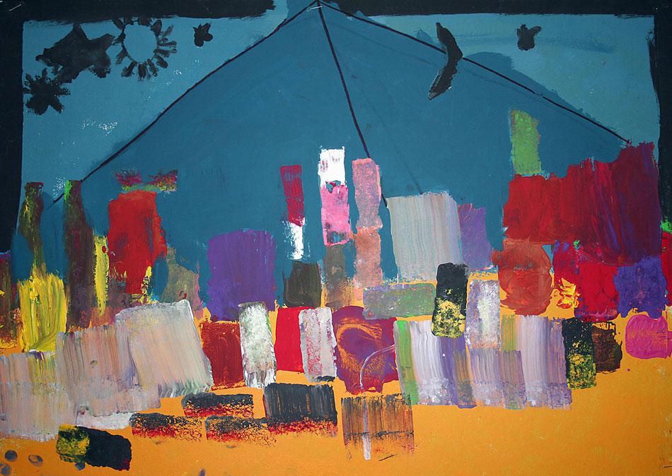 Pyramide bei Nacht von Gemeinschafts- arbeit (9-10)