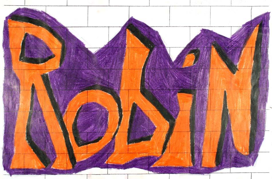 Graffiti mit dem eigenen Namen von Robin (14)