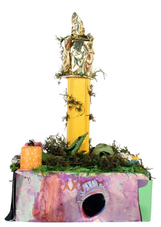 Hundertwasser-Haus von Gemeinschafts- arbeit 1.- 4. Schuljahr (6-10)