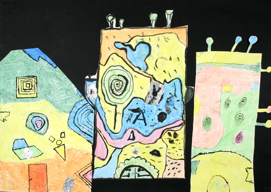 Hundertwasser-Häuser von Lea, Fabian und Torn (9)