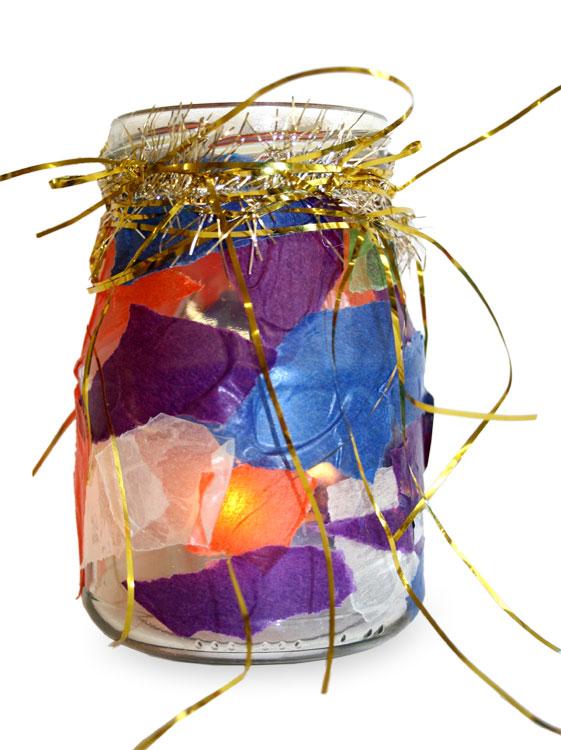 Teelichtglas von Gemeinschafts- arbeit (6-10)