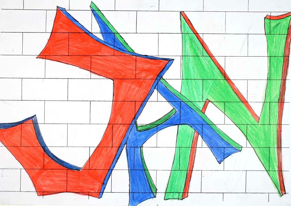 Graffiti mit dem eigenen Namen von Jan (14)