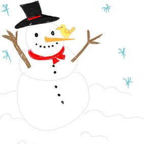 Schneemann, bist ein armer Wicht