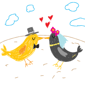Ein Vogel wollte Hochzeit machen