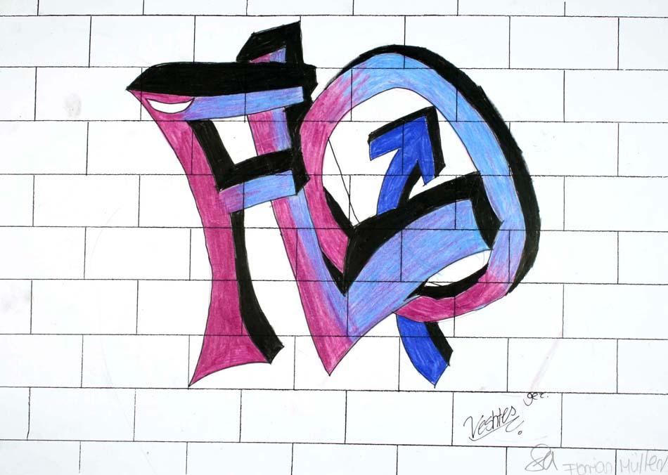 Graffiti mit dem eigenen Namen von Florian (14)